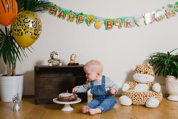 Wild Rose Photography Kent - 1st Birthday Cake Smash Photoshoot
