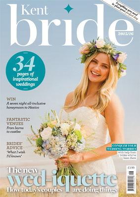 Wild Rose Photography - Creative Kent Wedding Photography Kent Bride Magazine Front Cover