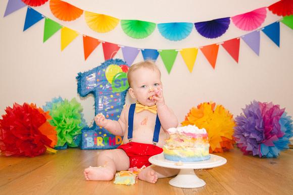 Wild Rose Photography Cake Smash Photoshoot Kent