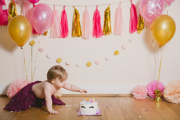 Wild Rose Photography Kent - 1st Birthday Cake Smash Photoshoot